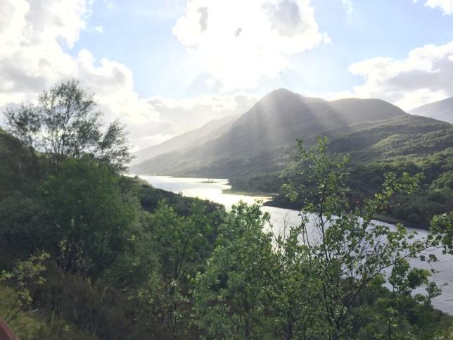 Looking down on Loch Leven